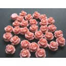 Cabochon rasina trandafir roz prafuit 10mm