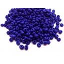 (45 grame) Margele nisip albastru cobalt 4mm