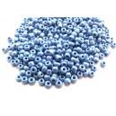 E-MN4mm-24 - (450 grame) Margele nisip albastru irizat 4mm