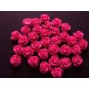 Cabochon rasina trandafir roz fucsia 10mm