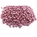 MN4mm-47 - (45 grame) Margele nisip rosu zmeura irizat 4mm