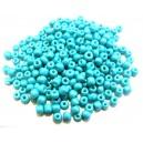 MN4mm-77 - (45 grame) Margele nisip turcoaz usor sidefat 4mm
