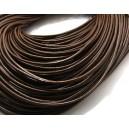 (1 metru) Snur piele naturala maro 1.5mm