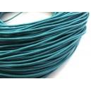 (1 metru) Snur piele naturala albastru turcoaz 1.5mm