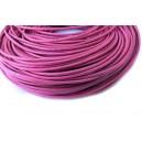 SPN2mm-18 -(1 metru) Snur piele naturala roz fucsia 2mm