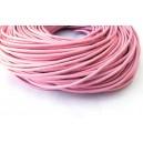 E-SPN2mm-20 -(20 metri) Snur piele naturala roz pal 2mm