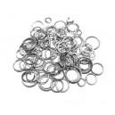 DISPONIBIL 4 SETURI - ZAMIX05 - (100 buc.) Zale argintii si argintiu inchis div. marimi/grosimi