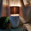 UNICAT - XCER63A - Veioza ceramica bej cu crenguta si boboci flori 40cm/47cm