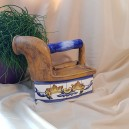 UNICAT - XCER66 - Fier de calcat rustic ceramica 20*19*14cm