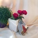 UNICAT - XCER68 - Vas decorativ cu capac ceramica colorata 15*12cm
