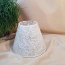 DISPONIBIL 1 BUCATA - Abajur alb pentru veioza/lampadar 18cm