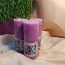 DISPONIBIL 4 BUCATI - Lumanare stalp parfumata lavanda 12.5*5cm