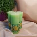DISPONIBIL 10 BUCATI - Lumanare parfumata stalp rustic pepene 12.5*5cm
