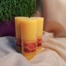 DISPONIBIL 7 BUCATI - Lumanare parfumata stalp rustic grapefruit 12.5*5cm