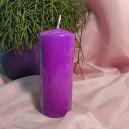 DISPONIBIL 4 BUCATI - Lumanare stalp lila 15*6cm