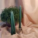 DISPONIBIL 2 SETURI - (3 buc.) Lumanare sfesnic verde inchis 24cm