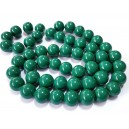 E-MS21 - (1 sirag) Margele sticla verde rece sfere 16mm