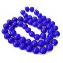 E-MS60 - (1 sirag) Margele sticla albastru cobalt sfere 16mm