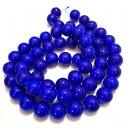 E-MS61 - (1 sirag) Margele sticla albastru cobalt sfere 14mm