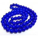 E-MS62 - (1 sirag) Margele sticla albastru cobalt sfere 12mm