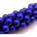 MS63 - Margele sticla albastru cobalt sfere 10mm