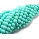 URMEAZA!!! Margele sticla verde turcoaz pal sfere 6mm