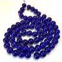 E-MS82 - (1 sirag) Margele sticla bleumarin indigo sfere 12mm