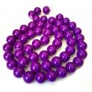 E-MS96 - (1 sirag) Margele sticla violet sfere 16mm