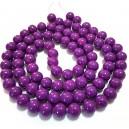 E-MS102 - (1 sirag) Margele sticla violet lila sfere 10mm