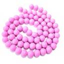 E-MS108 - (1 sirag) Margele sticla roz lila sfere 12mm