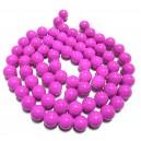 E-MS113 - (1 sirag) Margele sticla roz magenta sfere 12mm
