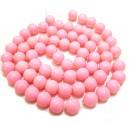 E-MS133 - (1 sirag) Margele sticla roz 01 sfere 12mm