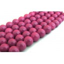 MS144 - Margele sticla roz zmeura sfere 12mm