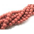 MS160 - (10 buc.) Margele sticla rosu caramiziu sfere 6mm