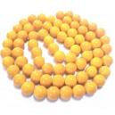 E-MS167 - (1 sirag) Margele sticla galben copt sfere 12mm