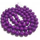 E-MS101 - (1 sirag) Margele sticla violet lila sfere 12mm