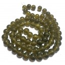 E-MS187 - (1 sirag) Margele sticla olive sfere 12mm