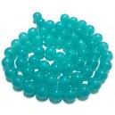 E-MS195 - (1 sirag) Margele sticla verde turcoaz light sfere 14mm