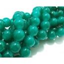 MS239 - Margele sticla verde agat sfere 12mm