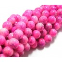 (10 buc.) Margele sticla roz si mov sfere 8mm