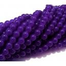 MSP469 - (10 buc.) Margele sticla violet sfere 6mm
