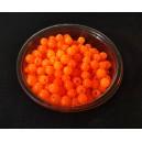 MSP524 - (10 buc.) Margele sticla portocaliu neon sfere 4mm