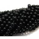 MSP620 - (10 buc.) Margele sticla negru portelan sfere 6mm