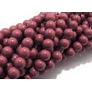 MS558 - (10 buc.) Margele sticla rosu sienna sfere 4mm
