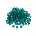 E-MFB343 - (200 buc.) Cristale verde cyan biconice fatetate 3mm