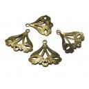 COA05 - Conector alama triunghi bronz antic 17*16.5mm