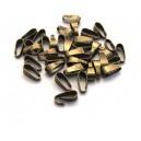 (10 buc.) Agatatoare pandantiv bronz antic 11*4mm