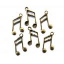 CP120 - Charm nota muzicala bronz antic 27*15mm