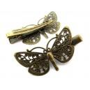 Agrafa clips fluture bronz antic 43*25.5mm
