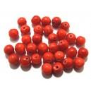 PSE132 - Jad rosu portocaliu sfere 6mm